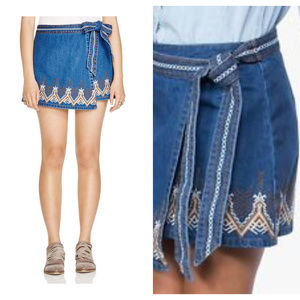 Free People Dream Away Hendrix Embroidered Skirt 8